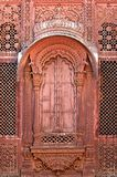 India, Jodhpur: window on the Maradja palace Royalty Free Stock Photo