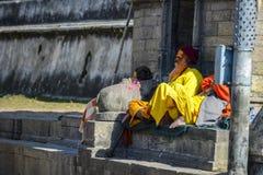India joga ?wi?ty, Varanasi indu zdjęcie royalty free