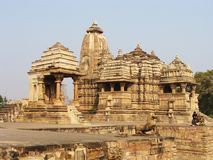 India, Kadzhuraho, temples Stock Image