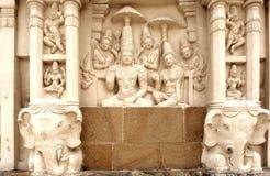 India, Kanchipuram: De tempel van Kailashanatha stock foto's