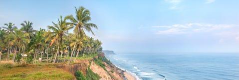 India, Kerala, Varkala beach cliff Stock Photography