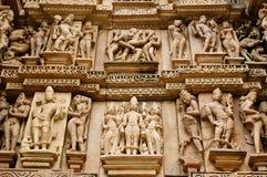 india khajuraho Arkivfoton