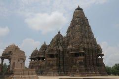 india khajurahotempel Arkivfoton