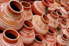 india krukar Arkivbilder