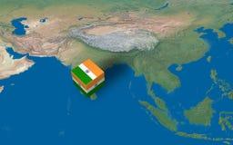 india lägeöversikt över Fotografering för Bildbyråer