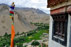 India - Ladakh landscape in a cloudy day stock photography