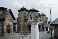 1977. India. Lakshmi Narayan temples. Chamba. The photo shows, the Lakshmi Narayan temples complex in Chamba Stock Image