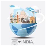 India Landmark Global Travel And Journey Infographic Royalty Free Stock Photo