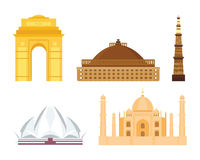 India landmark taj mahal travel vector. Royalty Free Stock Photos