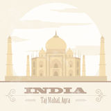 India landmarks. Retro styled image Royalty Free Stock Image