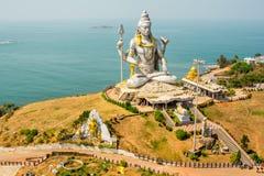 India landscapes. Gokarna, Murudeshwara. India landscapes - seashore, statues, Murudeshwara, Karnataka Stock Images