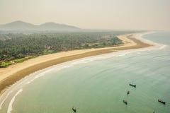 India landscapes. Gokarna, Murudeshwara. Royalty Free Stock Photography