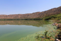 India Lonar lake Royalty Free Stock Photos