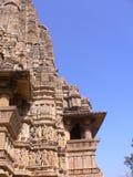 India, Madhya Pradesh, Khajuraho, Tempels Stock Afbeelding