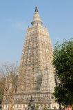 India, Mahabodhy Temple in Bodhgaya. Mahabodhy Temple complex in the Bodhgaya city in India Royalty Free Stock Photos