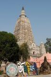 India, Mahabodhy Temple. Buddhist mani prayer stones in Bodhgaya, Bihar, India Royalty Free Stock Photos