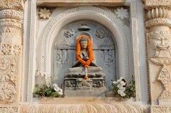India, Mahabodhy Temple detail. Mahabodhy Buddhist temple in Bodhgaya, Bihar, India Stock Photo