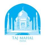india mahal taj stock illustrationer