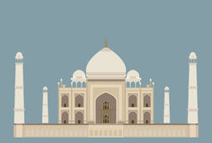 india mahal taj vektor illustrationer