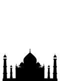 india mahal tempelthaj stock illustrationer