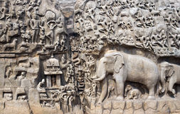 India - Mamallapuram - Arjunas Penance Royalty Free Stock Photography