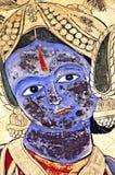 India, Mandawa: colourful frescoes  on the walls Royalty Free Stock Image