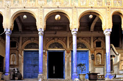 India, Mandawa: Typical house Royalty Free Stock Images