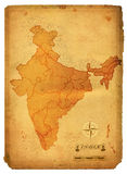 India Map. Political map of India treated to look old Stock Images