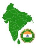 India map Stock Image