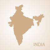 India map brown vector illustration Stock Photo