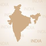 India map brown vector illustration Stock Image