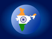 India map flag sphere Royalty Free Stock Photos