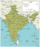 India map with selectable territories. Vector Royalty Free Stock Photo