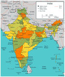 India map with selectable territories. Vector Stock Image