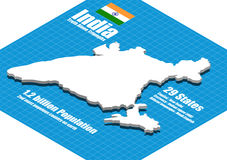 India map vector Stock Photo
