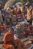 india marknadsgata royaltyfri foto