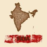 India martwił mapę ilustracji