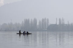 India: Misty morning in Srinagar Royalty Free Stock Images