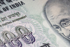 India Money Detail Stock Image