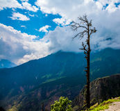 India.Mountains and clouds. Royalty Free Stock Images