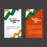 India National Day Vector Template Design Illustration stock images