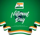 India National Day Vector Design Illustration. India National Day Vector Template Design Illustration royalty free illustration