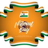 India National Day Vector Design Illustration. India National Day Vector Template Design Illustration stock illustration