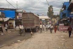 India, Nepal granica - Zdjęcie Stock