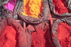 India, nepal tika powder color Stock Photo