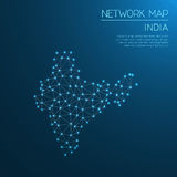 India network map. Stock Photography