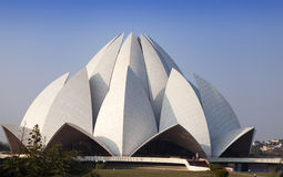 India. New Delhi, Lotus temple. Royalty Free Stock Images