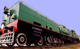 India: old steam train. India : one of the oldest running locomotive in the world; this is a steam powered machine; a railway machine Royalty Free Stock Image