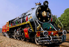 India: Old Steam Train Stock Photo