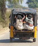 India Orissa, local transport in tribal area. Local transport in tribal area: go to the market Stock Images